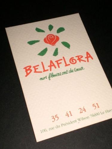 Logo pour une enseigne de vente de fleurs