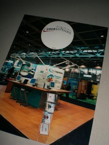 Stand d'un éditeur de logiciel technique (Salon international de CAO/CFAO)