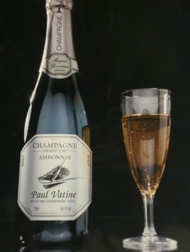 étiquette de champagne pour une opération de sponsorisation