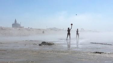 Marée basse en été
