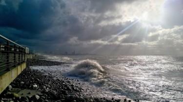 Grande marée sur le front de mer
