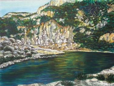 Les eaux calmes du Gardon en Provence