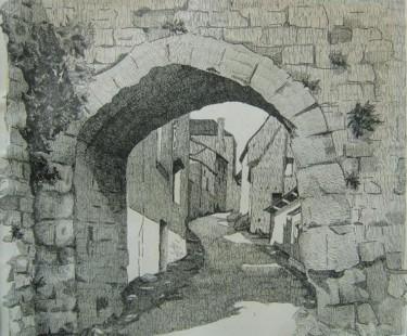Entrée d'une vieille ville en Provence