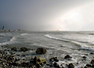 La plage du Havre avant l'orage